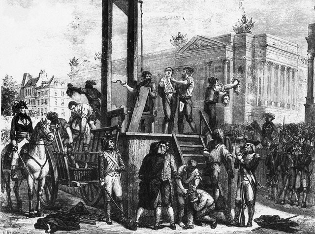 Illustration of the Execution of Robespierre and His Co-conspirators