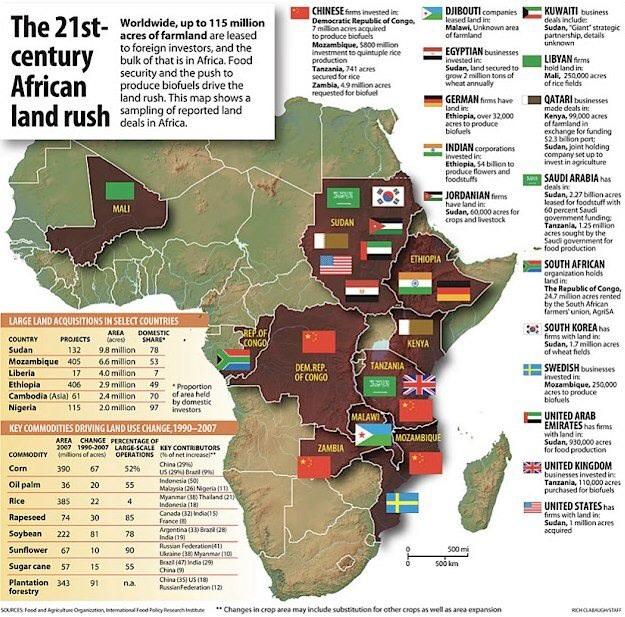 аренда земли иностранными инвесторами на территории Африки