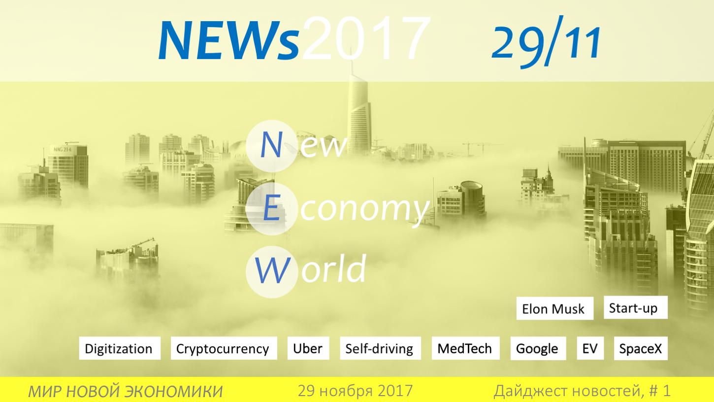 новости мира новой экономики 29 ноября 2017