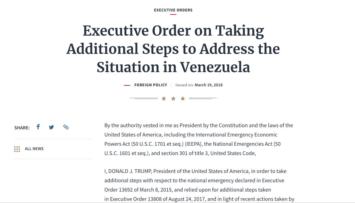 Трамп наложил запрет на операции с Petro