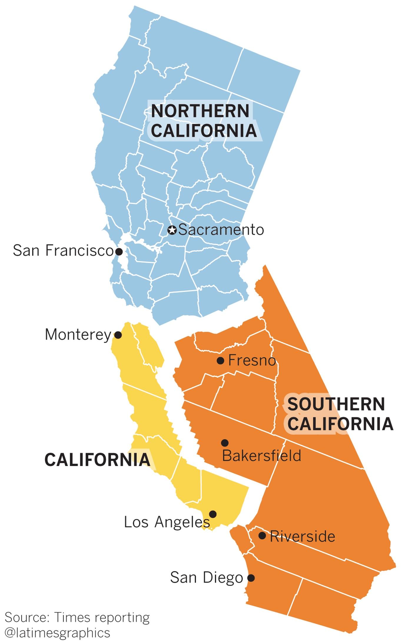 референдум в Калифорнии - разделение на три штата