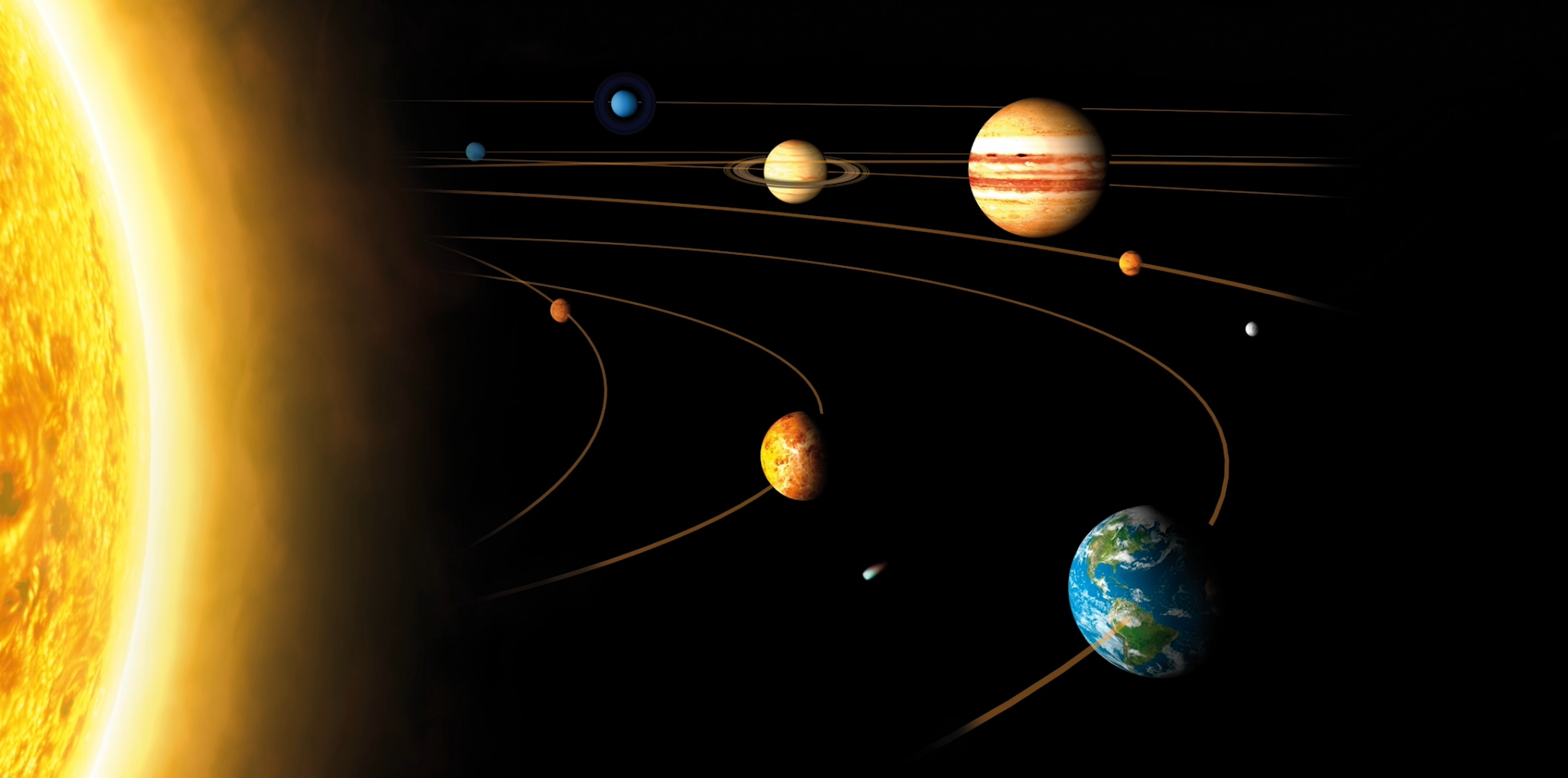 Реальные размеры Солнечной системы