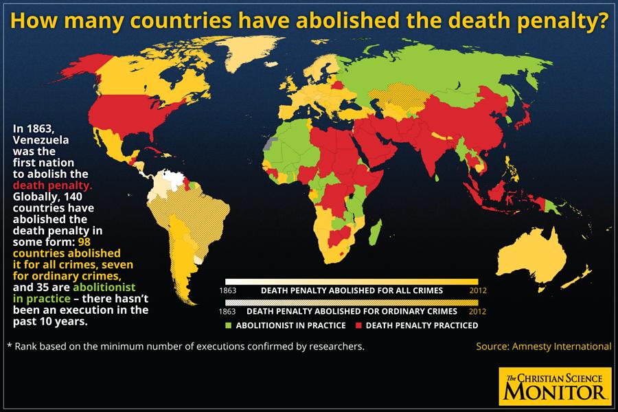смертная казнь - страны где она отменена