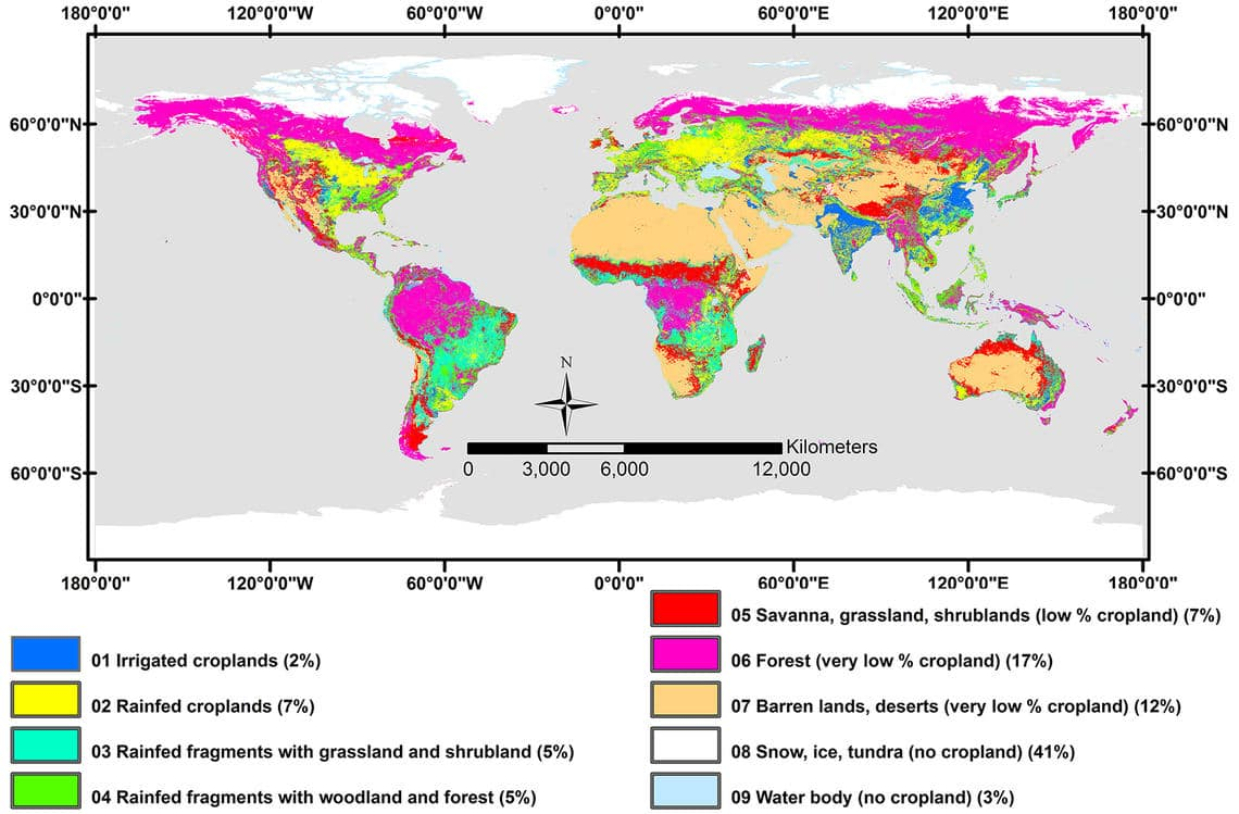 Пахотные земли - использование и покрытие