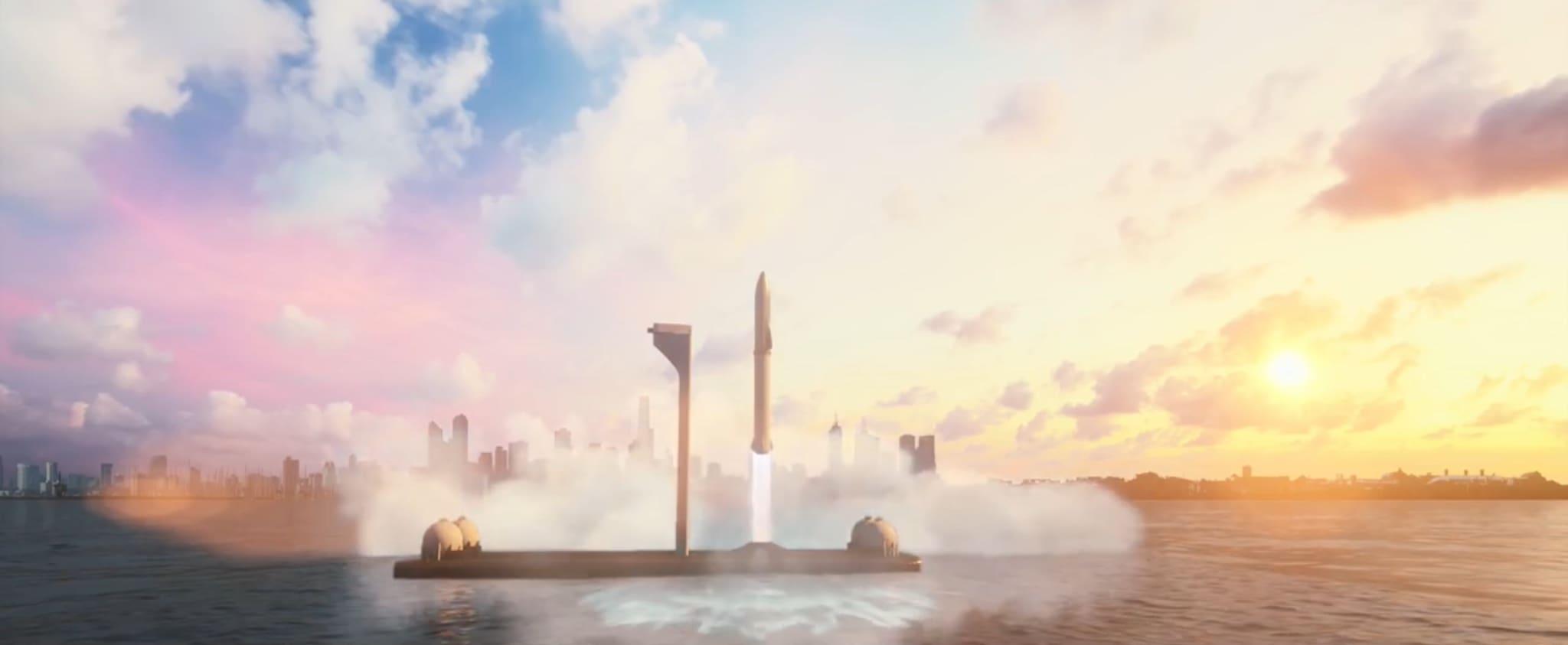 Big Falcon Rocket может долететь в любую точку планеты за 60 мин