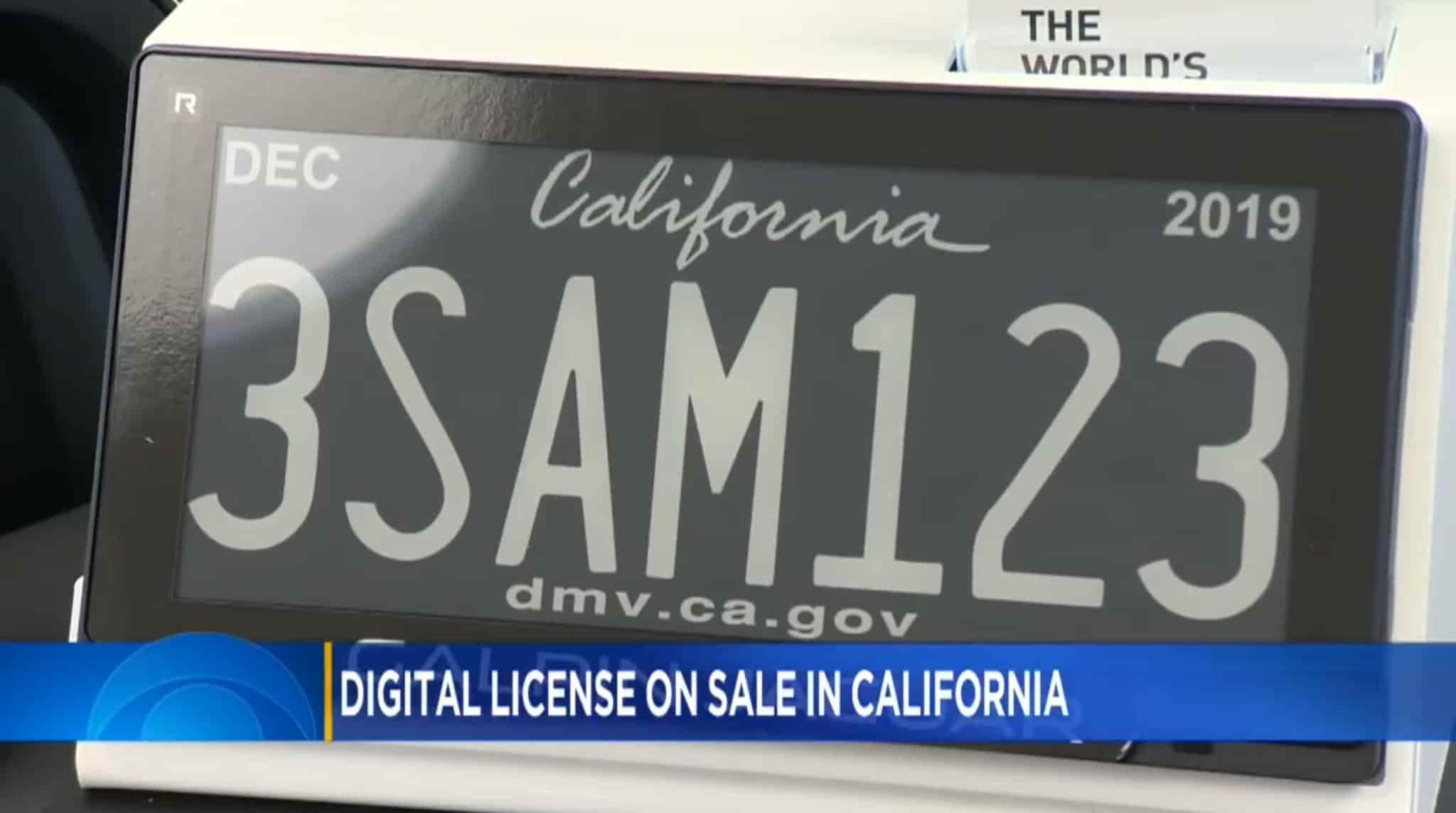 Автомобильные номера на электронных чернилах: новая пилотная программа в Калифорнии