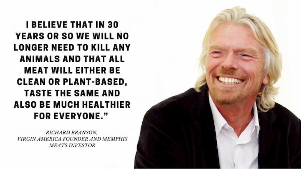 инвестиции в производство искусственного мяса - Ричард Брэнсон