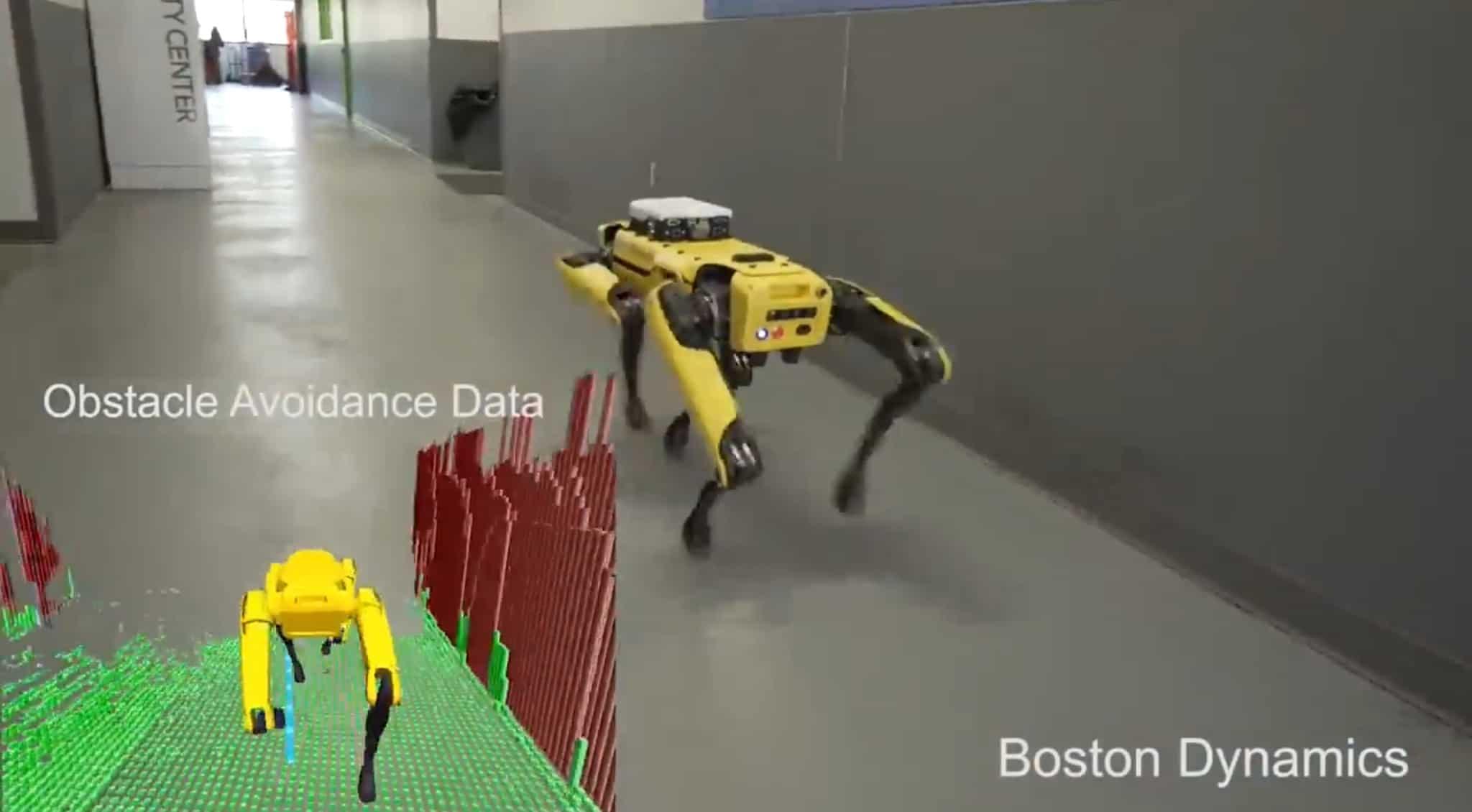 Boston Dynamics демонстрирует как робот ориентируется в пространстве